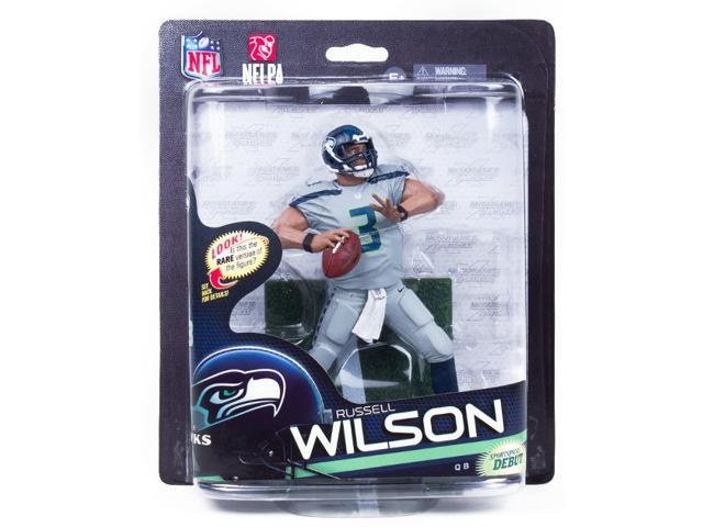 McFarlane NFL 33 Figure Seattle Seahawks Russell Wilson Variant Grey Uniform