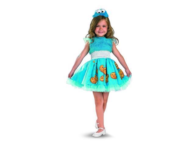 Sesame Street Frilly Cookie Monster Dress Costume w/Headband Baby