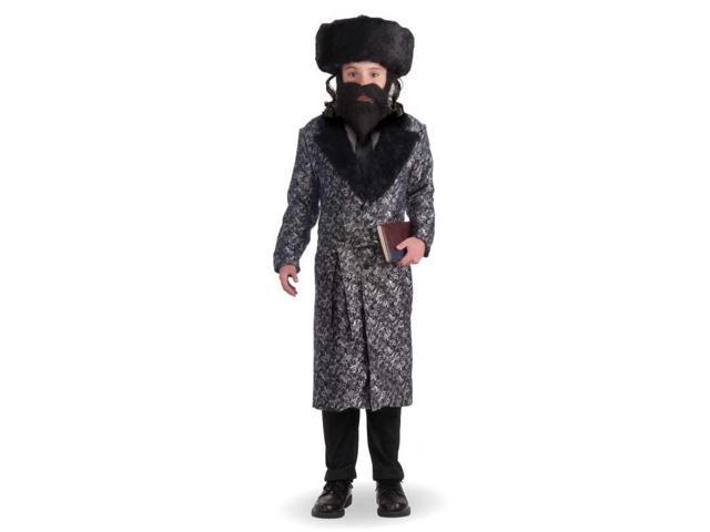 Silver Robe Child Rabbi Costume Large