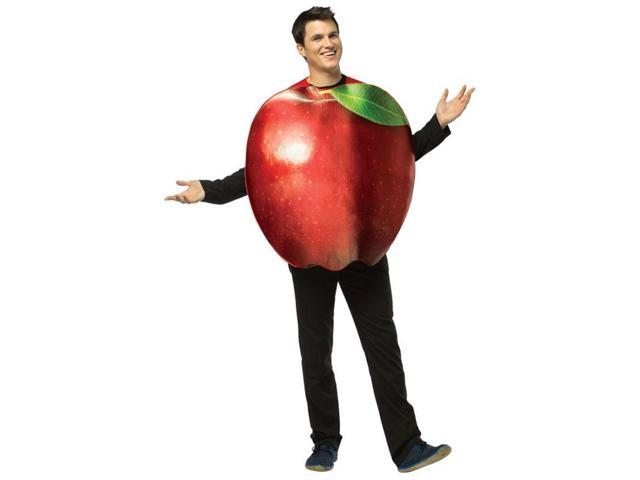 Get Real Apple Costume Adult One Size Fits Most