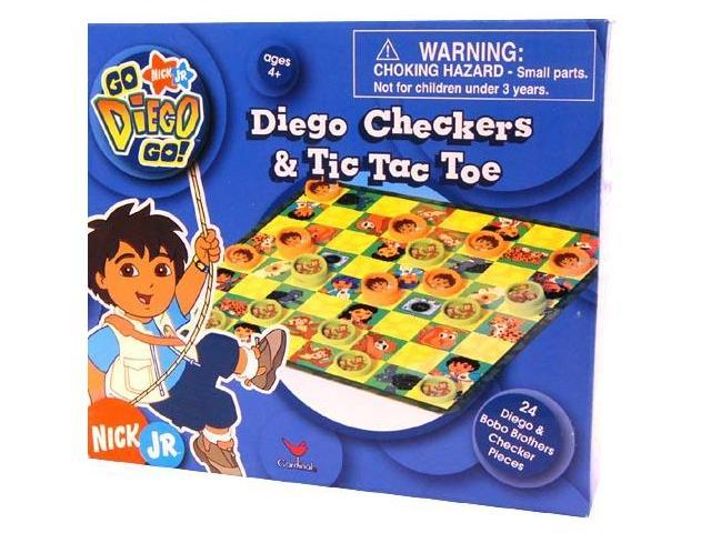 Nickelodeon Checkers & Tic Tac Toe Game Diego