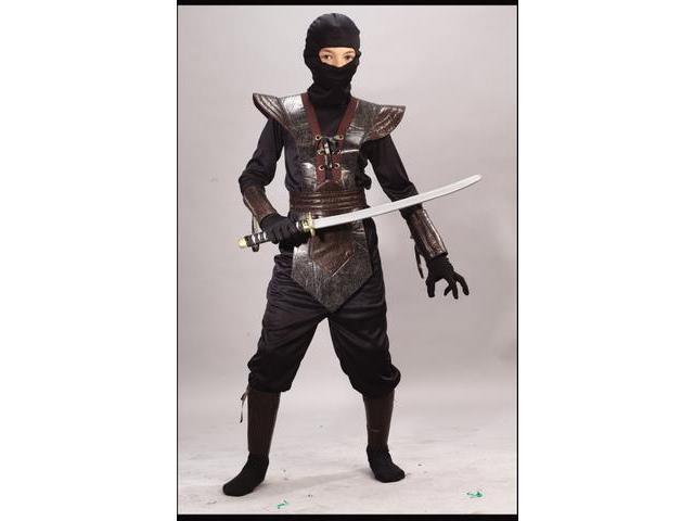 Ninja Leather-Like Brown Realistic Child Costume Small