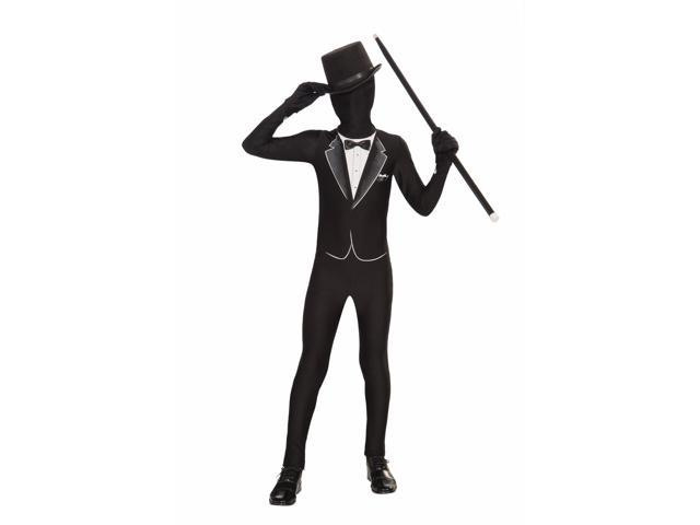 Disappearing Man Stretch Costume Jumpsuit Teen: Formal Tux Suit One Size Fits Most
