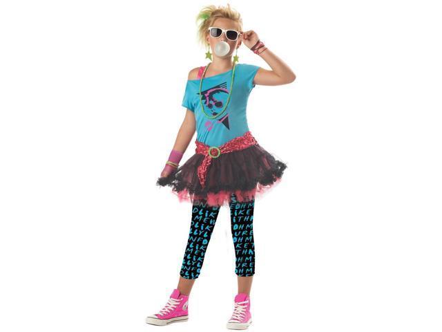 80's Valley Girl Costume Child Medium
