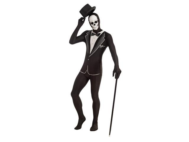 Disappearing Man 2nd Skin Suit Skull Tuxedo  Adult Standard