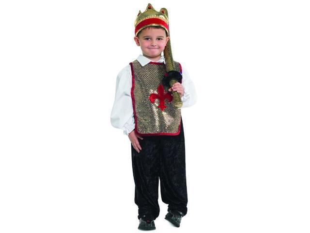 Gold & Redieval King Costume Set Child Small