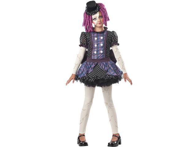 Broken Doll Costume Dress Child Large