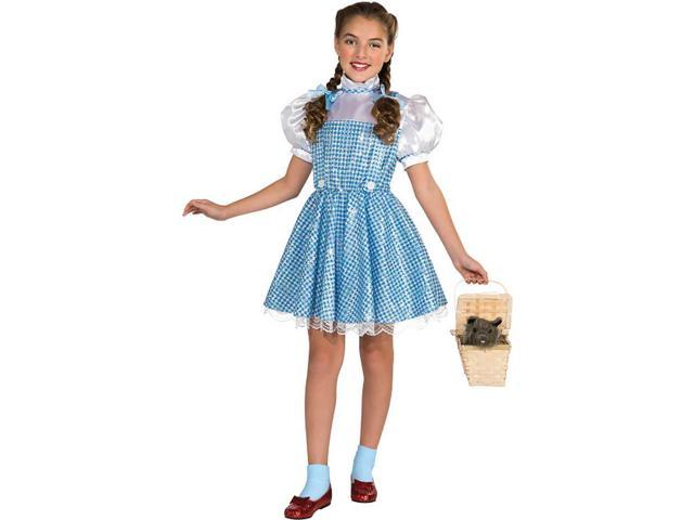 The Wizard Of Oz Dorothy Sequin Dress Costume Child Toddler 2-4