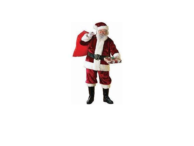 Regal Crimson Deluxe Plush Santa Suit Costume Adult XX-Large