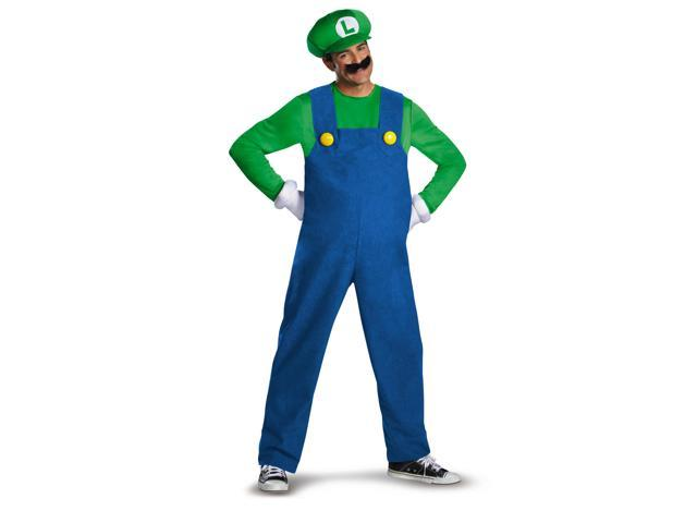Super Mario Bros Deluxe Luigi Costume Adult X-Large (42-46)