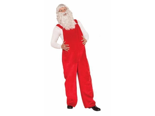 Santa's Red Costume Overalls Adult One Size Fits Most