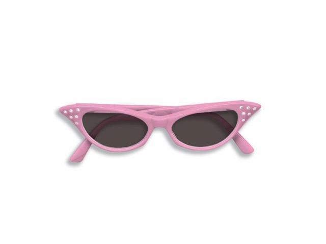 50's Pink Rhinestone Costume Sunglasses