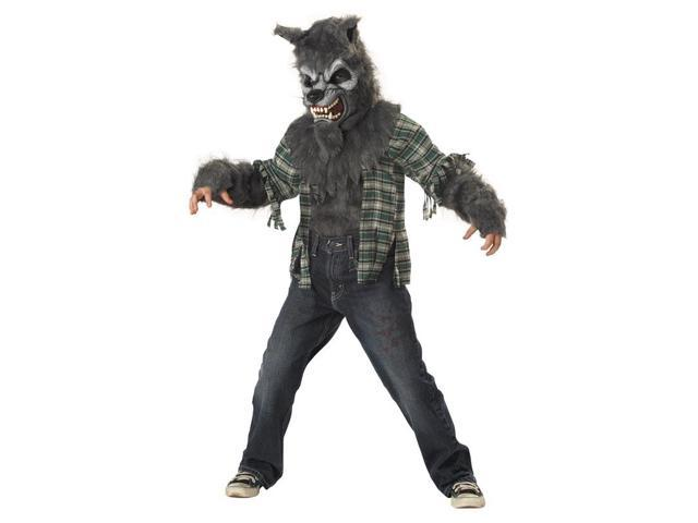 Howling At The Moon Werewolf Child Costume Large 10-12