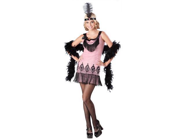 Flirty Flapper Costume Dress Teen Medium 5-7
