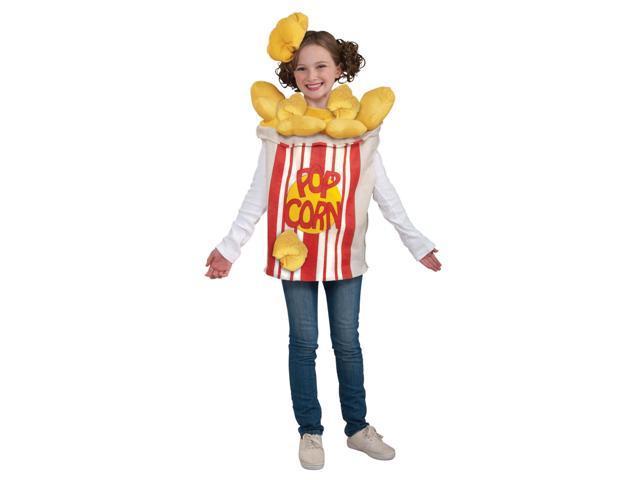 Popcorn Kernel Food Costume w/Hat Child One Size