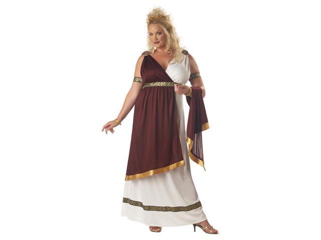 Roman Empress Goddess Dress Costume Adult Plus XX-Large 16-18