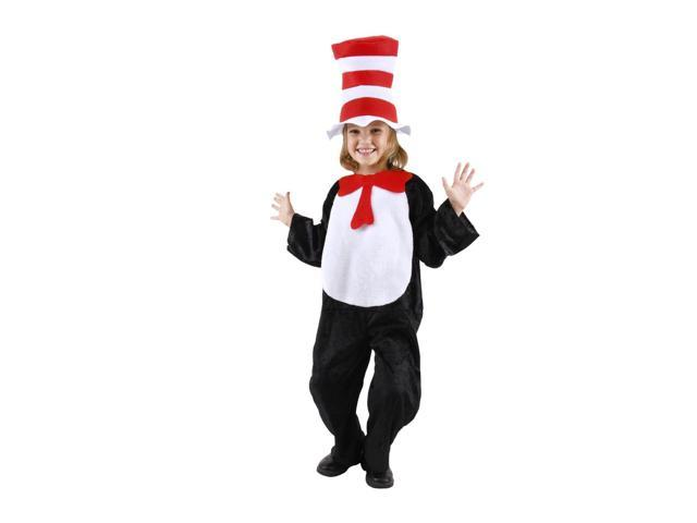 Dr. Seuss Cat In The Hat Costume Child Toddler Small 4-6