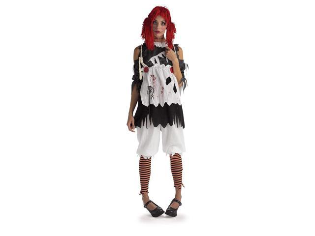 Gothic Female Rag Doll Adult Costume Large