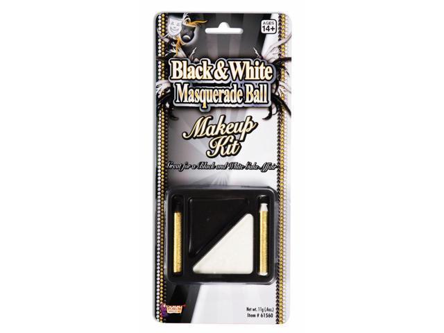 Black & White Makeup Costume Accessory Kit