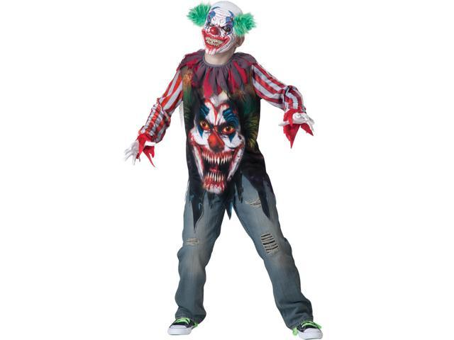 Big Top Terror Clown Costume Child X-Large