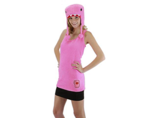 Domo Tank Shirt & Hat Costume Set Pink Adult Large/X-Large
