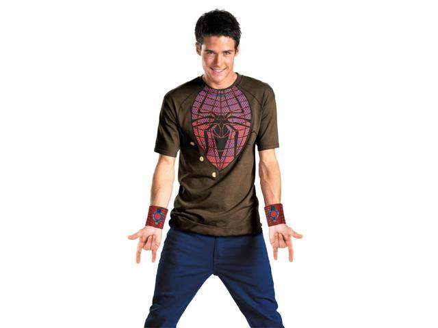 Amazing Spider-Man Alternative Costume T-Shirt & Web Shooters Adult Large/X-Large