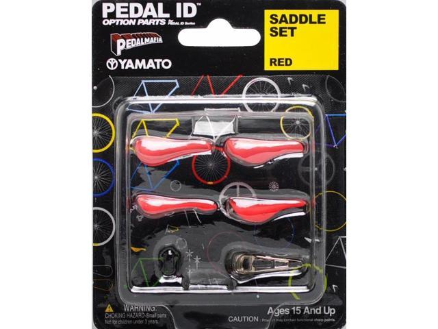 Pedal Id 1:9 Scale Bicycle: Saddle Set: Red