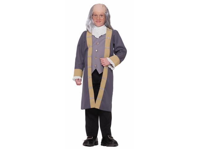 Inventor Scientist Ben Franklin Costume Child Medium