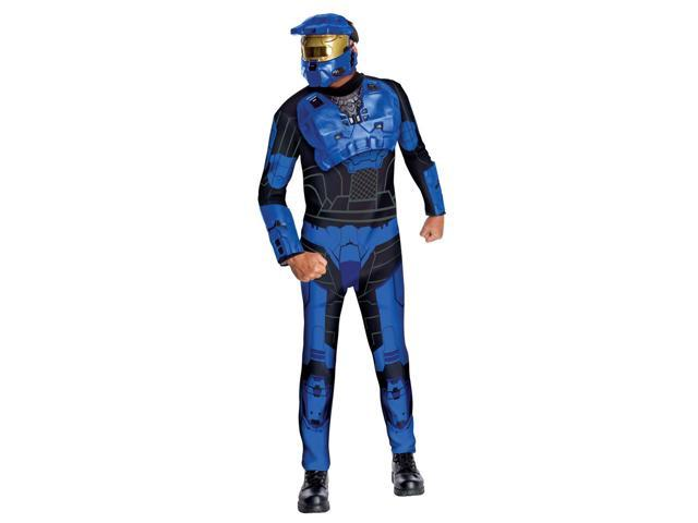 Halo Blue Spartan Costume Adult One Size Fits Most Up To 44