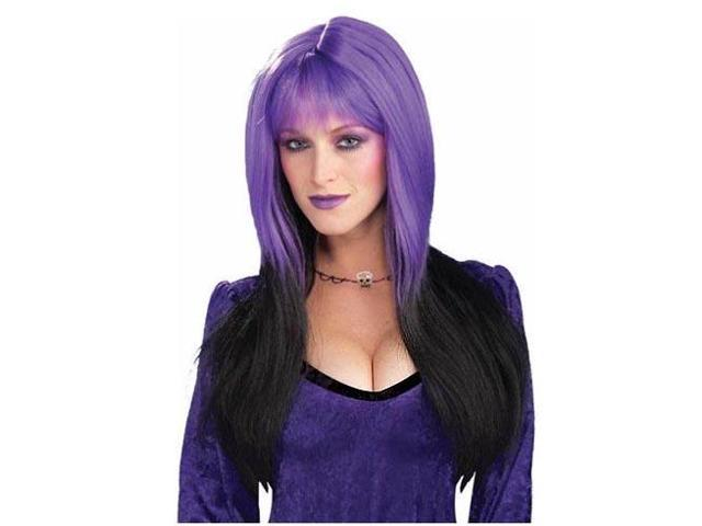 Dipped In Darkness Purple & Black Costume Adult Wig