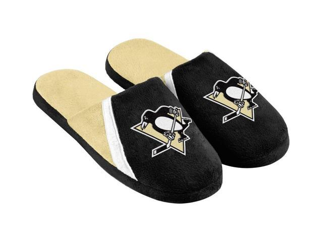 Pittsburgh Penguins NHL Swoop Logo Slide Slippers Small