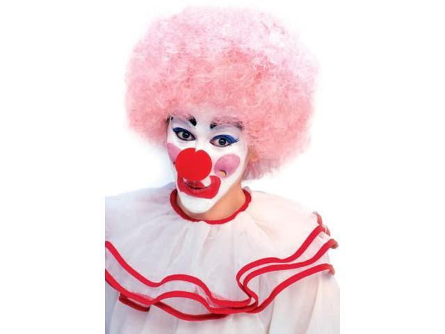 Clown Curly Afro Adult Costume Light Pink Wig