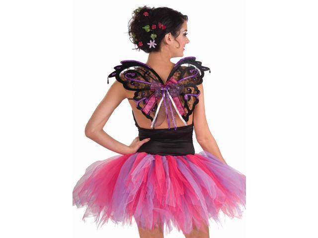 Summer Fairy Black Lace Wings Costume Accessory