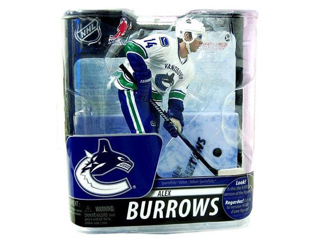 McFarlane NHL Series29 Silver Level Variant Alex Burrows White Uniform