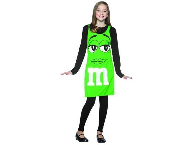 M&M Chocolate Candy Green Tank Dress Costume Tween Tween