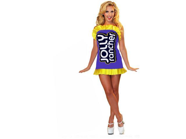 Jolly Rancher Couture Costume Dress Adult: Purple X-Small/Small