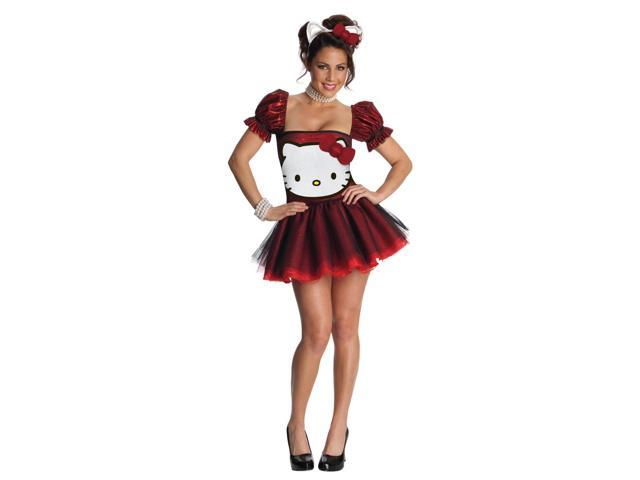 Hello Kitty Sexy Red Sequin Costume Dress Adult X-Small 0-2