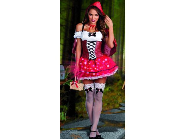 Sexy Little Red Riding Hood DeLight Light Up Costume Adult X-Large