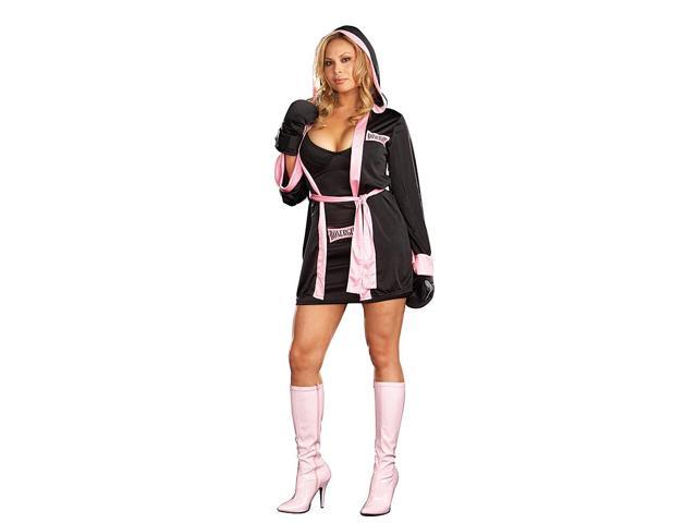 Sexy Boxer Girl Costume Plus Adult Plus 1X/2X