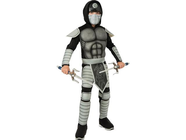 Stealth Ninja Muscle Chest Costume Child Medium