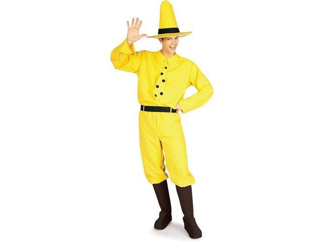 Curious George The Man In The Yellow Hat Adult Costume Standard