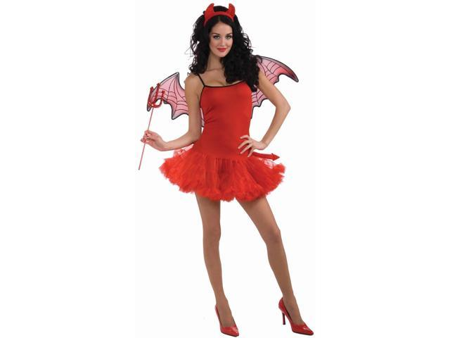 Devil Petticoat Dress Costume Adult Standard