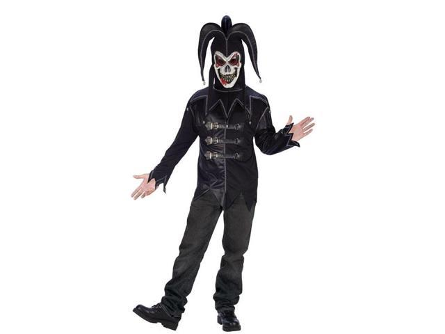 Deluxe Black Twisted Jester Costume Adult Standard