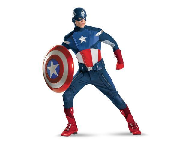 The Avengers Captain America Theatrical Quality Costume Adult XX-Large 50-52