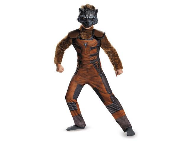 Guardians Of The Galaxy Marvel Deluxe Rocket Raccoon Child Costume 10-12