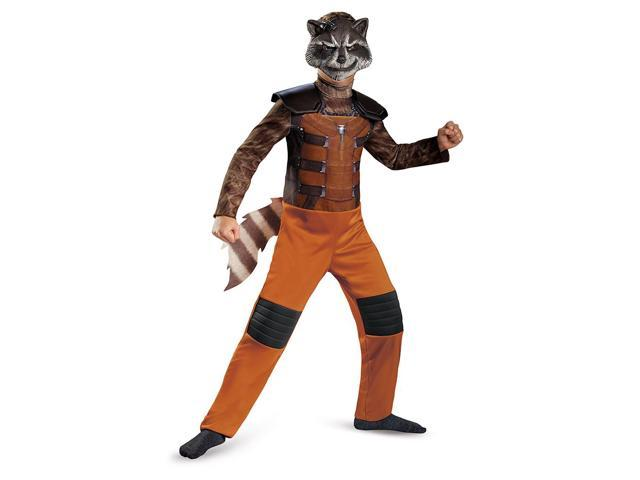 Guardians Of The Galaxy Marvel Classic Rocket Raccoon Child Costume 10-12