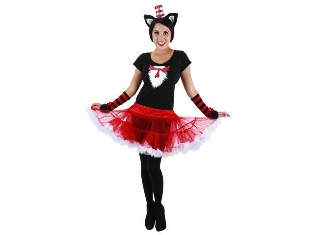 Dr. Seuss Cat In The Hat Tutu Dress Costume Adult Small/Medium