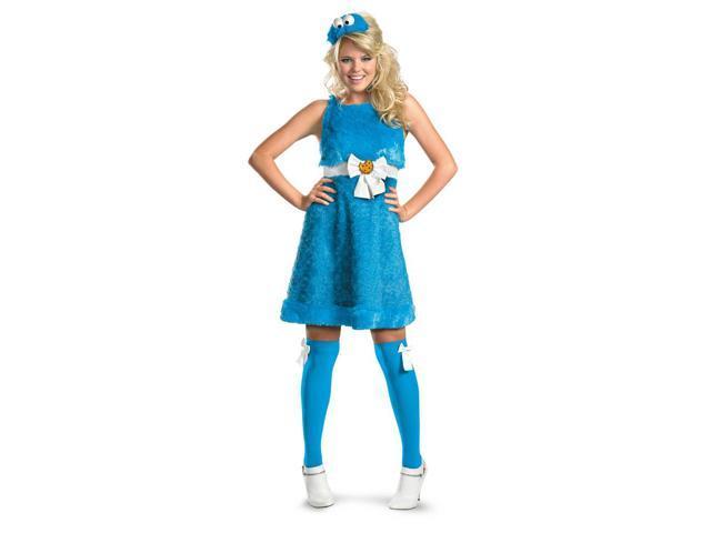 Sesame Street Cookie Monster Sassy Costume Adult Medium 8-10