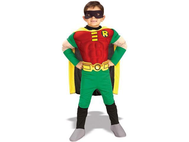 Teen Titans Deluxe Muscle Chest Robin Child Costume Large