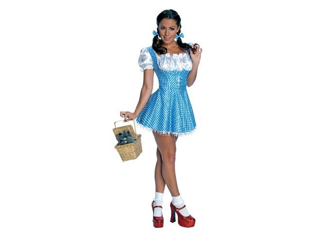 The Wizard Of Oz Sexy Dorothy Sequin Dress Costume Adult X-Small